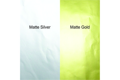 A3 LASER GOLD/SILVER MATTE STICKER